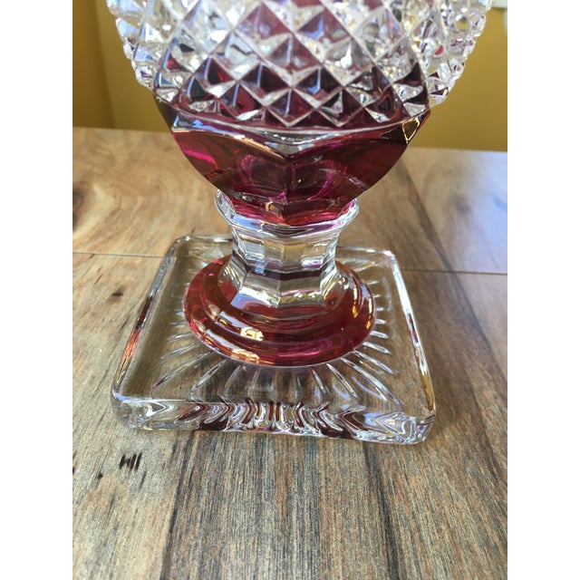 Glass Westmoreland Glass English Hobnail Large Candy Dish For Sale - Image 7 of 8