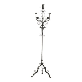 French 19th Century Wrought Iron Candle Holder