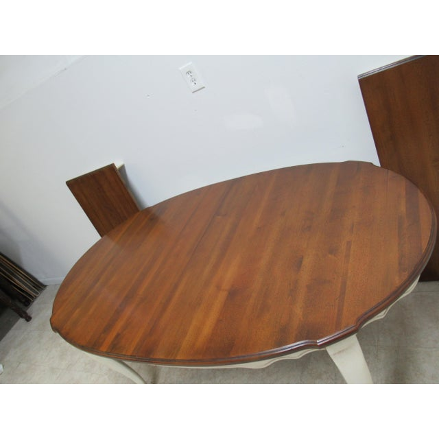 2000 - 2009 French Country Ethan Allen Dining Room Banquet Table For Sale - Image 5 of 12