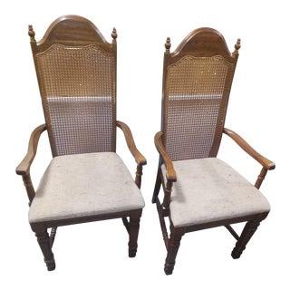 1940s Vintage Captains Chairs- A Pair For Sale