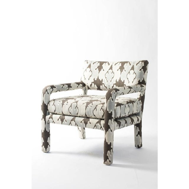 1970s Vintage Upholstered Parsons Chair For Sale - Image 5 of 5