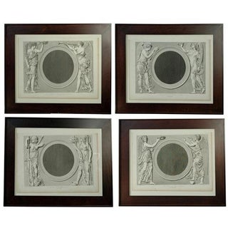 Early 19th Century Prints of the Louvre by Baltard - Set of 4 For Sale