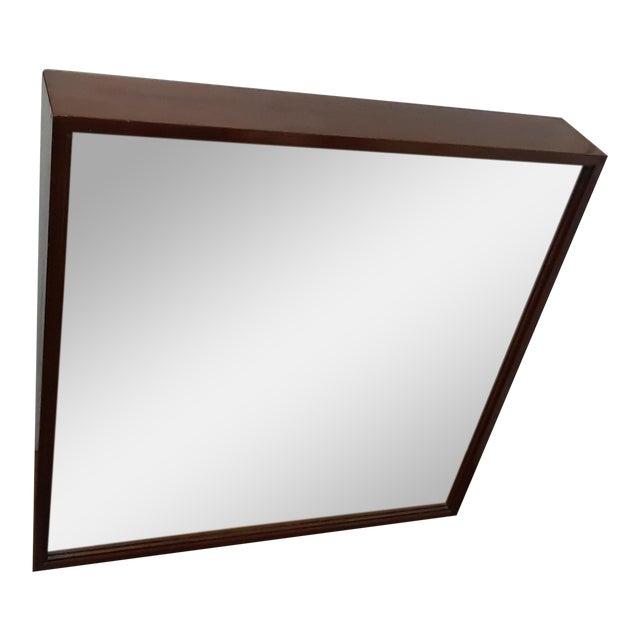 Mid-Century Modern Wood Framed Mirror For Sale