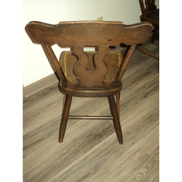 Hitchcock Late 19th Century Antique Hitchcock Style Painted Dining Room Side Chairs- Set of 6 For Sale - Image 4 of 9