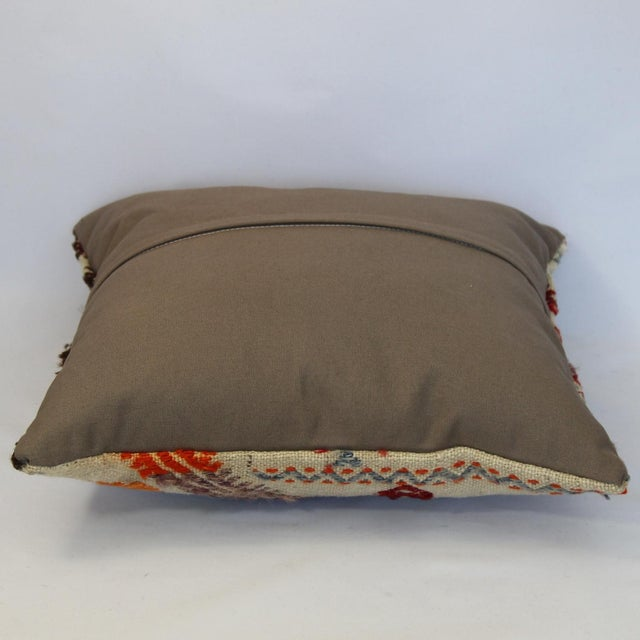 Turkish Handmade Kilim Pillow Cover - Image 8 of 11