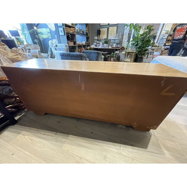 1970's Drexel Heritage Accolade Campaign Style Credenza For Sale In Los Angeles - Image 6 of 9