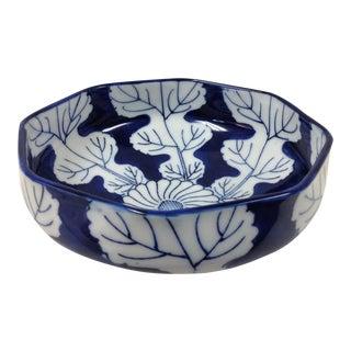 Mid-20th Century Japonaise Blue and White Porcelain Omc Bowl