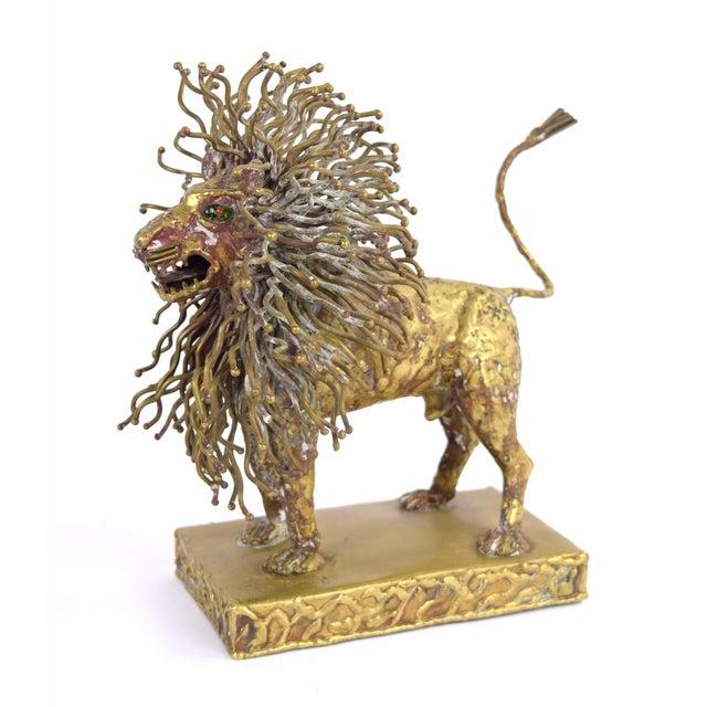 Pal Kepenyes Modernist Brutalist Brass Lion Sculpture Mexican Hungarian Artist For Sale - Image 10 of 10