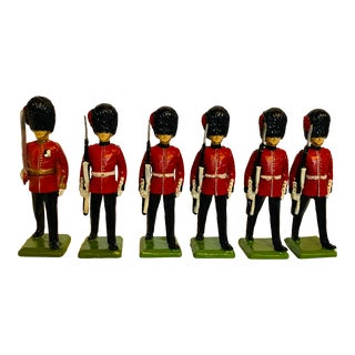 Mid 20th Century Churchill's Miniature Scots Guards Figures in Original Box, Made in Scotland - Set of 6 For Sale