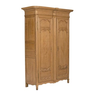 Late 19th Century Louis XVI Style French Oak Armoire For Sale