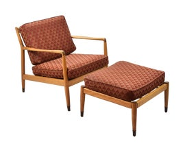 Image of Brick Red Lounge Chairs