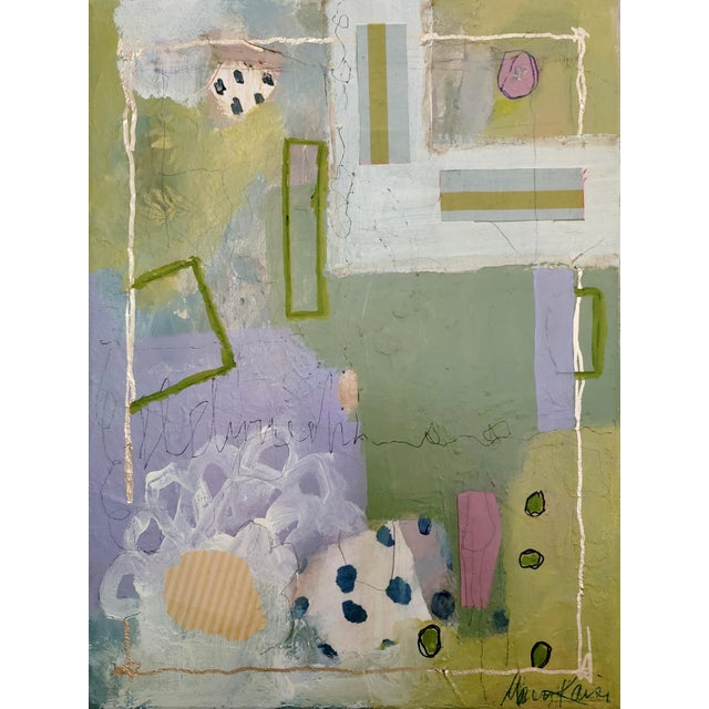 """""""All of Space and Time Together"""" Contemporary Abstract Mixed-Media Painting by Mary Kaiser For Sale"""