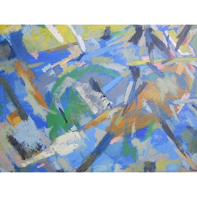 Impressive abstract expressionist oil on canvas by the well listed French artist Raymond Abner (Egypt, France 1924-1999)....