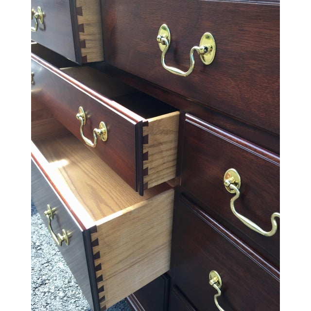 Henkel Harris Solid Mahogany Long Dresser For Sale - Image 9 of 13