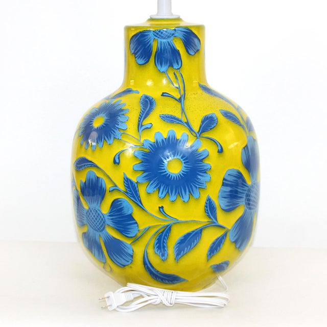 Abstract Alvino Bagni for Raymor Pottery Lamp For Sale - Image 3 of 7