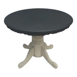 1980s Round Oak Pedestal Farm Table
