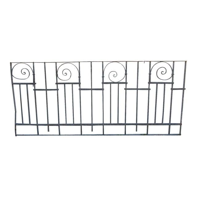 Antique Victorian Iron Gate Window Garden Fence Architectural Salvage Door #015 For Sale