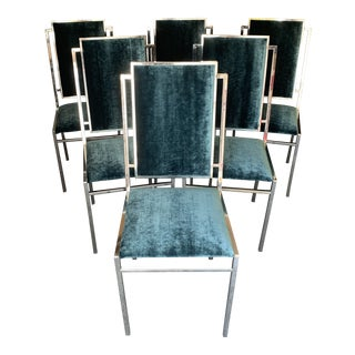 Mid Century Modern Chrome Crown Chairs- Set of 6 For Sale