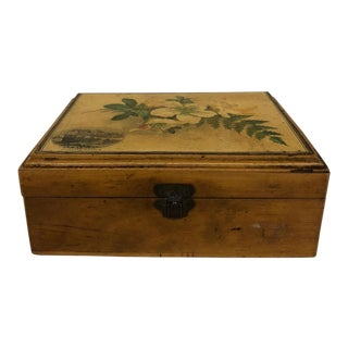 Mauchline Ware Sycamore Wood Box