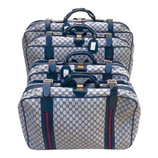 Vintage Gucci Soft Sided Luggage - Set of 4 For Sale