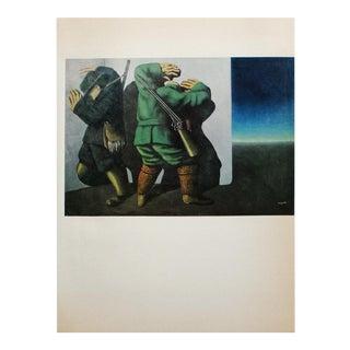 "1972 Rene Magritte, ""The Huntsmen on the Edge of Night"" Original Photogravure For Sale"