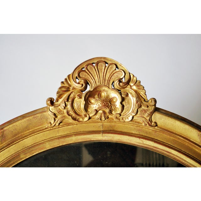 Mid 19th Century Louis XV Style Gold Mirror For Sale - Image 4 of 7