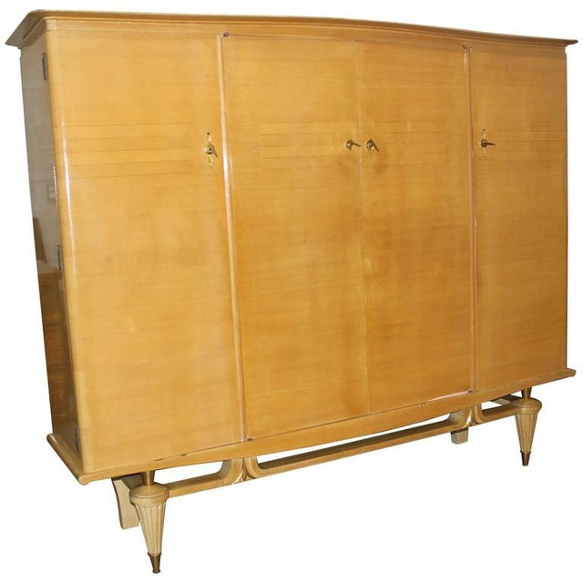 French Art Deco Sycamore Armoire - Image 1 of 7