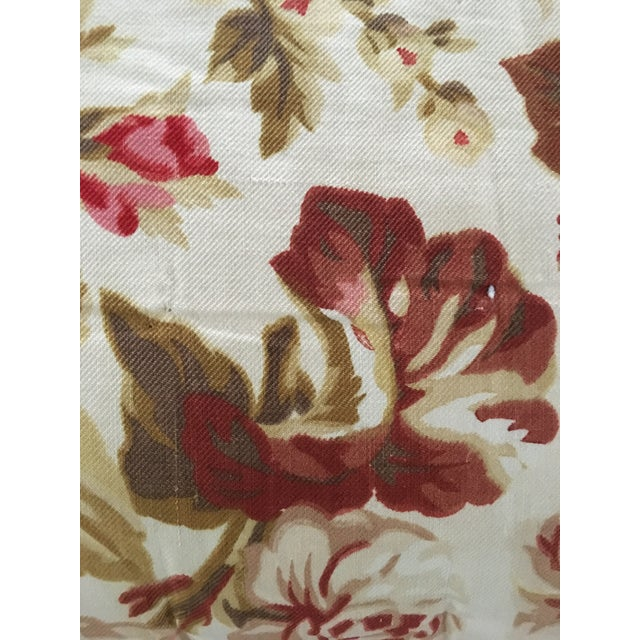 Vintage French Floral & Linen Textile Accent Pillow - Image 4 of 8