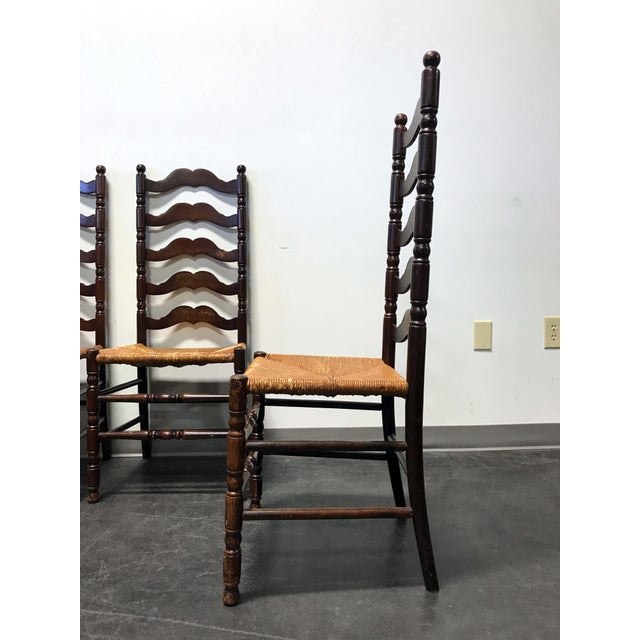 Tell City Vintage Ladder Back Dining Chairs - Set of 4 - Image 4 of 11