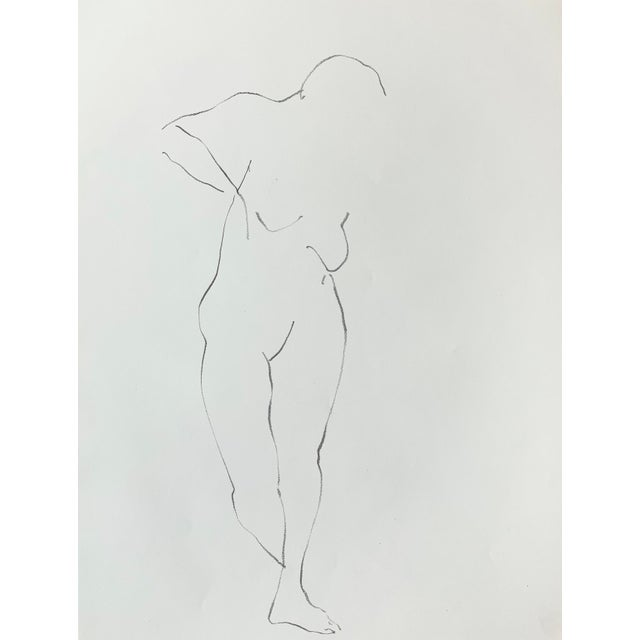 Jack Freeman Figurative Nude Drawing by Jack Freeman For Sale - Image 4 of 4
