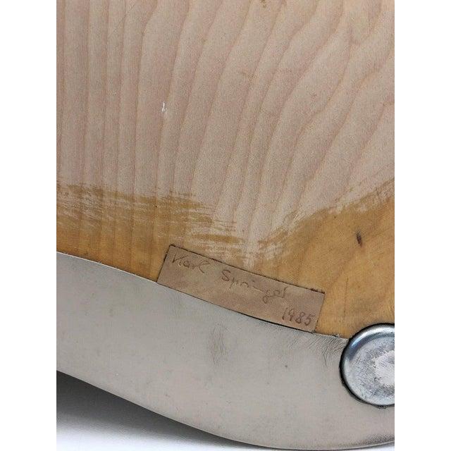 White Leather Kidney Shape Side Table by Karl Springer For Sale - Image 8 of 10
