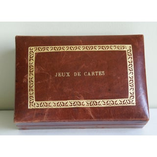 Vintage French Leather Playing Card Box Preview