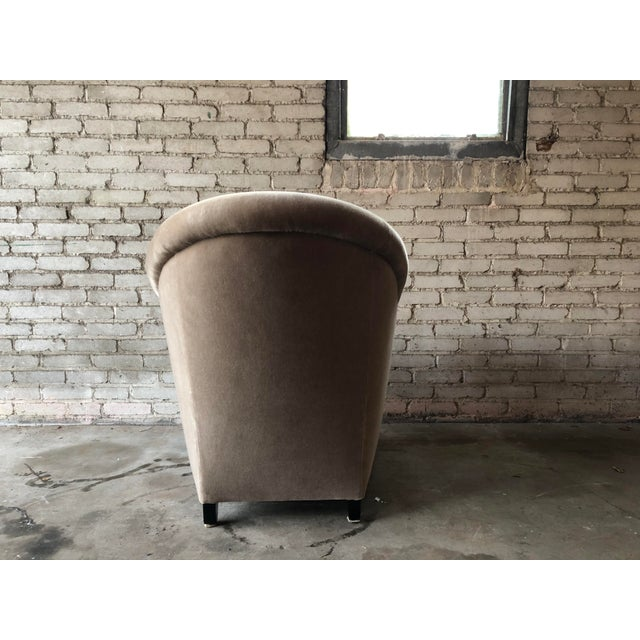Minotti Mohair Lounge Chair and Ottoman For Sale - Image 10 of 12