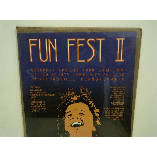"""American """"Fun Fest II"""" Lehigh County Community College Poster For Sale - Image 3 of 5"""