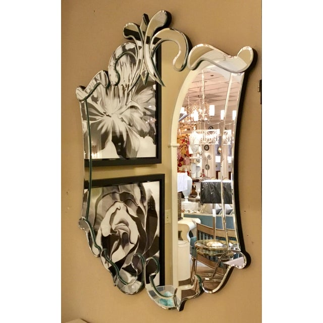 2010s Ave Home Modern Venetian Style Carlyle Wall Mirror For Sale - Image 5 of 6