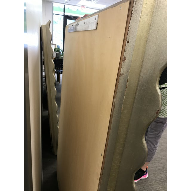Large Gold Distressed Scallop Frame Mirrors - a Pair For Sale - Image 4 of 9