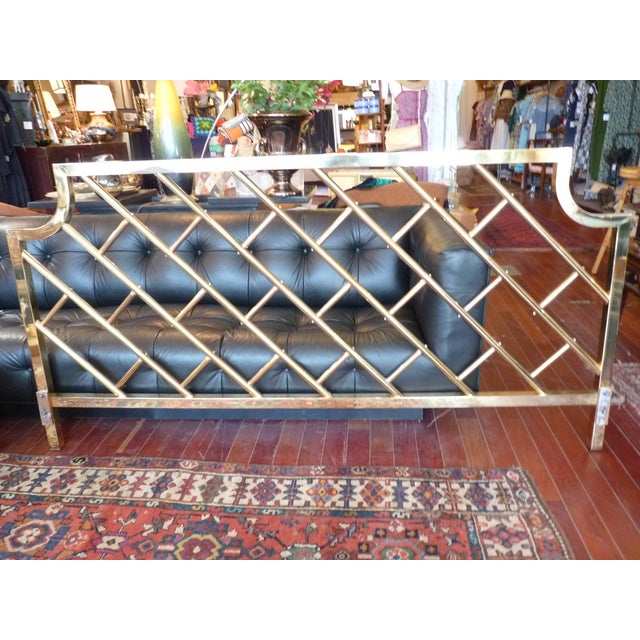 Brass Chippendale-Style King Headboard - Image 2 of 6
