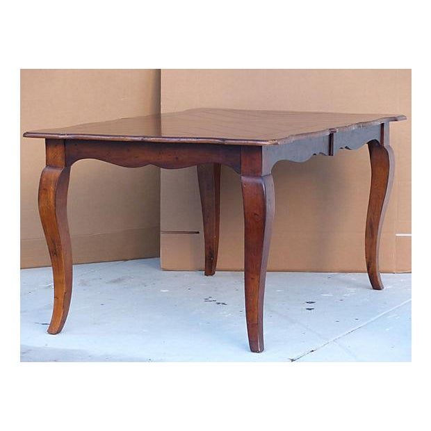 Extendable Parquet-Style Dining Table - Image 2 of 10
