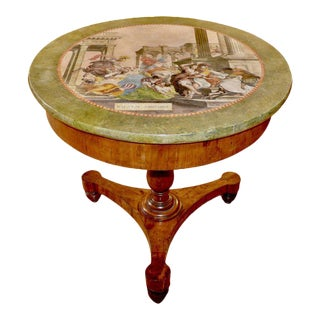 19th Century Italian Neoclassical Scagliola Center Table For Sale