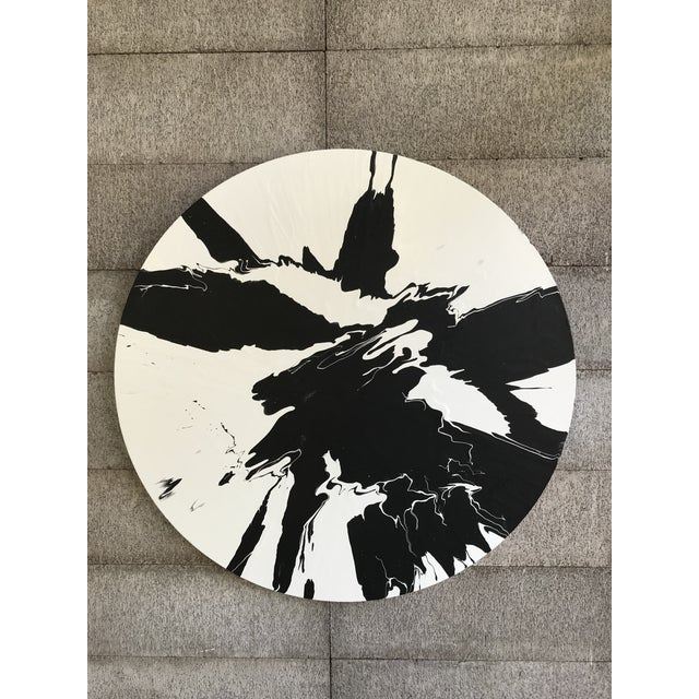 Minimalist Abstract Round Painting For Sale In San Francisco - Image 6 of 7