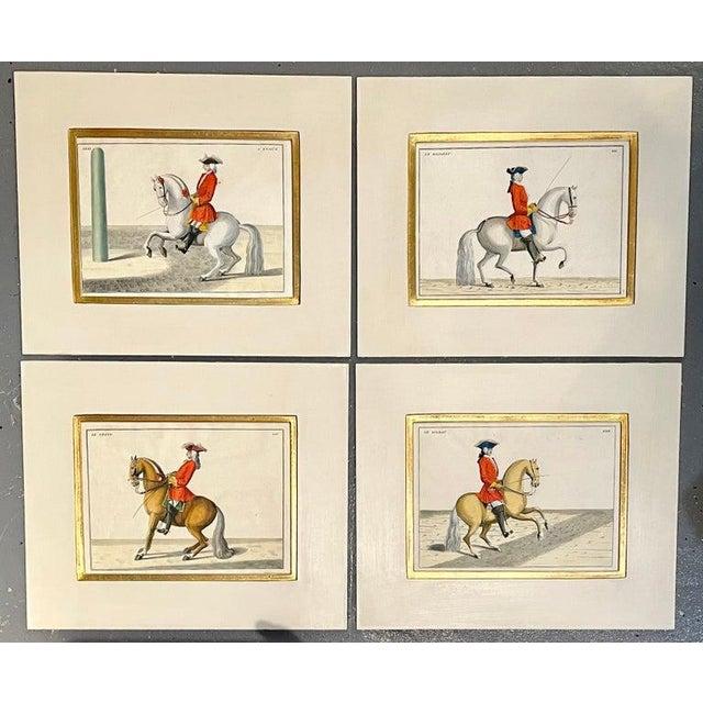 Four Engravings of Horse Riders Le Soldat, Le Grand, Le Diligent, L' Enjoue For Sale - Image 10 of 12