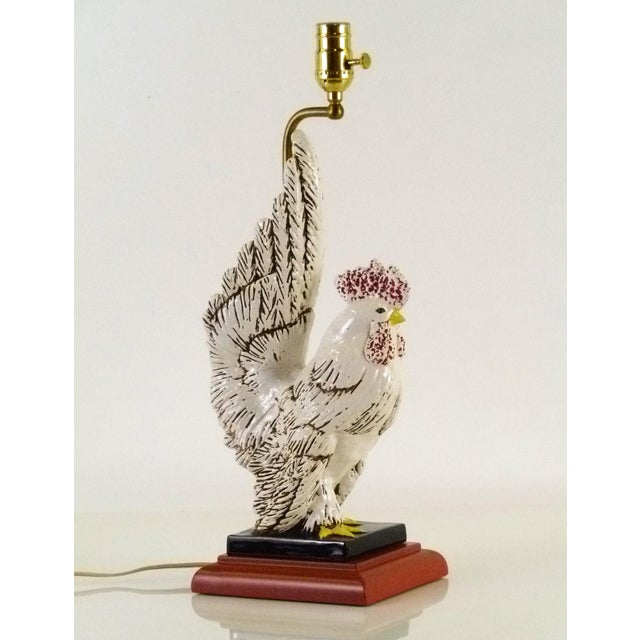 Mid Century Rooster Ceramic Table Lamp, 1940s For Sale - Image 10 of 10