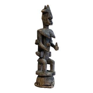 Vintage Carved Tribal Statue For Sale