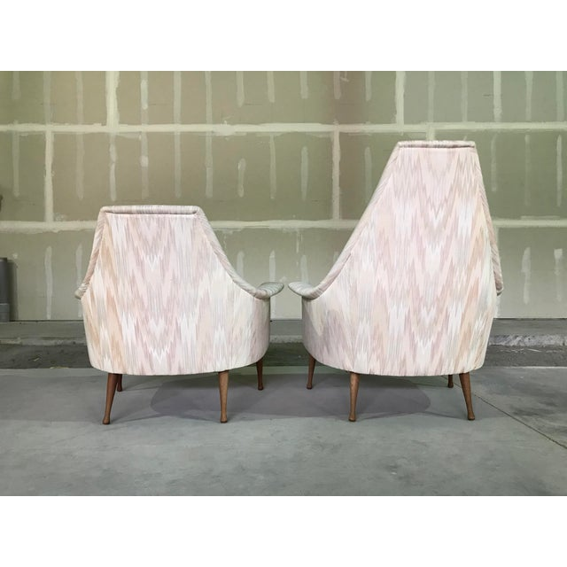 Mid 20th Century 20th Century Mid Century Modern Attributed to Ben Seibel Model Deceiver His & Hers Lounge Chairs - a Pair For Sale - Image 5 of 13