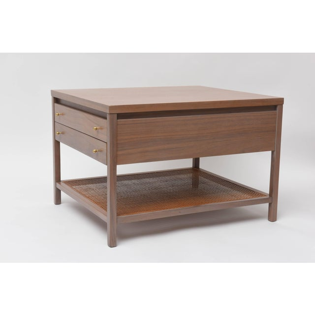 Danish Modern Greige Walnut Side Table by Paul McCobb for Calvin For Sale - Image 3 of 11