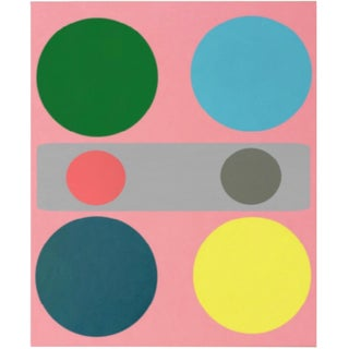 Original Abstract Geometric Painting by Brooks Burns For Sale