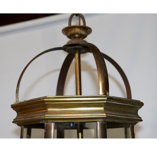 Pair of English Lantern Hanging Lamps For Sale - Image 4 of 9