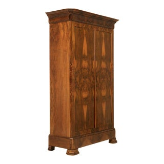 French Louis Philippe Burl Walnut Armoire For Sale