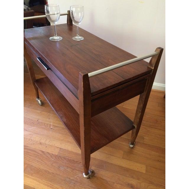 Mid-Century Modern American Lane Altavista Bowtie Bar Cart For Sale In Washington DC - Image 6 of 10