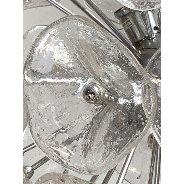 "2000 - 2009 20"" Fiori Murano Glass Pendant Orb Ceiling Light For Sale - Image 5 of 11"